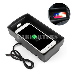 For Audi A3 S3 Wireless Car Charger Phone Charger Pad Storage Box 2014-2019