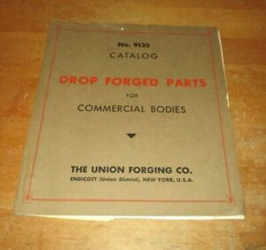 Vintage  1947 CATALOG  The UNION FORGING Co. Endicott NY  9135  w/ Price lists