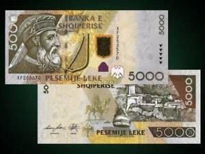 ALBANIA 2013 - 5000 LEKE - Banknote - UNC in Circulation