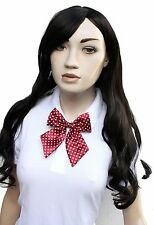 Red Spotty Kitty Bow KawaiiI Japan School Girl Cosplay Alt Pre Tied Bow Tie