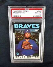 1986 TOPPS TIFFANY BASEBALL CARD #620 HOF BRUCE SUTTER PSA 10 GEM ATLANTA BRAVES