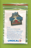 Unocal 76 Los Angeles Dodgers Pin 18 Strikeouts Sandy Koufax Ramon Martines (#6)