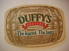Vintage Beer Coaster: DUFFY'S Draught Amber Lager ~ Labatt Canadian Retired Ale