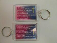 12 LORDS PRAYER KEY CHAINS religious keychain bible study VBS Sunday School NICE