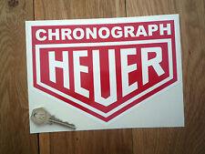 "HEUER CHRONOGRAPH 8"" Car STICKERS Pair 200mm Racing Race Rally Sponsor Classic"