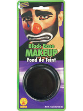 Black Grease Paint Make-Up Halloween Party Fancy Dress Brand New