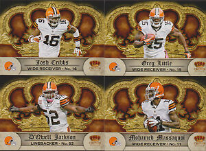 2013 CLEVE BROWNS 40 Card Lot w/ 2012 CROWN ROYALE TEAM SET 23 CURRENT Players