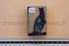 N214 French antique school rubber stamp kangaroo 6*4cm tampon scolaire kangourou
