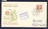 50060) LH FF Frankfurt - Las Palmas Spanien 1.12.63, SoU ab Jena DDR