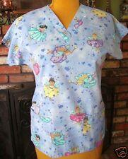 Cute Dream Faries Nursing Uniform Scrub Top Sz. S