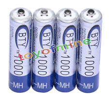 4x AAA 1000mAh 1.2V Ni-MH Rechargeable battery 3A BTY Cell for MP3 RC Toys