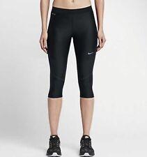 Women's Nike Power Speed Running Capri Black Size Small 801694-010