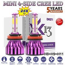 2x H11 H8 H9 LED Headlight Kit Light Bulbs 1380W 138000LM High or Low Beam White
