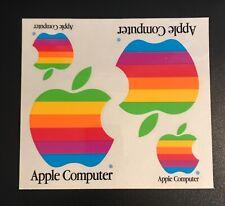 Vintage - Apple - Macintosh / Mac - Sheet of 4 - Rainbow Stickers - NOS