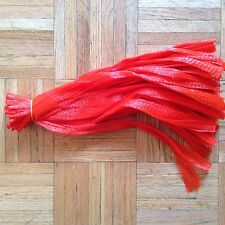 "15"" RED 100 reusable nylon poly mesh net bags for Produce Fruit Vegetable Nuts"