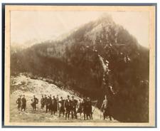 France, Chasseurs Alpins. Sur la route après les Eaux Chaudes  Vintage citrate p