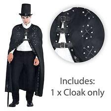 Homme aspect cuir clouté manteau boucle cape reaper dracula halloween vampire uk