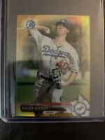 2017 Bowman Chrome Mini WALKER BUEHLER Prospect RC Gold Refractor /50 LA Dodgers