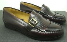 GH BASS Gervais Cordovan Dress Loafers Kiltie Monk Strap Buckle Leather Mens 9W
