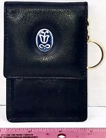 Lladro Society Collector Leather Coin Purse & Key Chain W/ Dust Cover Vintage