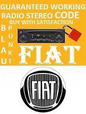 Fiat% STILO% VISTEON Radio CD Estéreo código de desbloqueo