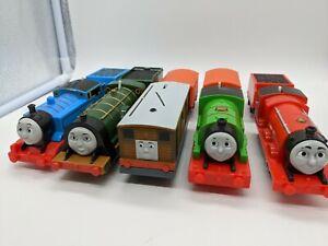 Lot of (5) Thomas & Friends Trackmaster Motorized Train 2013 Mattel Gullane