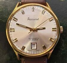 ACCURIST WATCH AUTOMATIC 21 JEWELS SWISS MADE WRISTWATCH 1970s VINTAGE