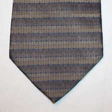 NEW Joseph & Feiss Silk Neck Tie Dark and Light Brown with Blue Pattern 1446