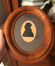 Antique Framed Paper Cut Silhouette 19th Century Gentleman Portrait Framed