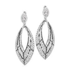 ORECCHINI BOCCADAMO Chevron, pendenti in argento rodiato 925 e glitter ref OR627