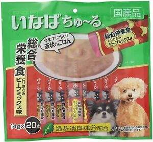 INABA Wan Churu Liquid Dog Treats 14 g × 20 Sticks Made in Japan NEW