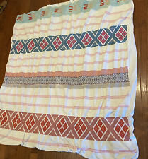Anthropologie heavy cotton Duvet cover Embroidered boho textured India Queen
