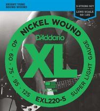 D'addario Exl220-5 Set Corde basso EXL