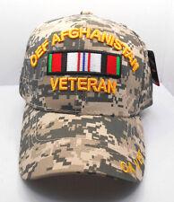 OEF Afghanistan Veteran Ball  Cap Hat in Digital Camo Nwt New H17