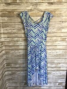 Justice Blue Green Romper Maxi Skirt Hi Lo Shorts Under Skirt Girls Size 12