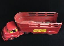 Vintage Wyandotte Truck Lines Semi Truck & Open Cattle Trailer Red 23.5""