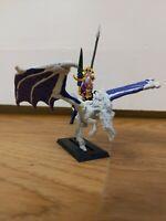 Warhammer WFB Dark Elf Sorceress Riding Dark Pegasus 1995 Oldhammer GW Free P&P