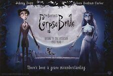 TIM BURTON'S CORPSE BRIDE Movie POSTER 27x40 H Johnny Depp Helena Bonham Carter