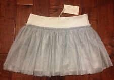 MISS GRANT COUTURE Girls Silver Sparkle Tulle Tutu Party Skirt SZ 12 BNWT $138