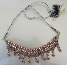 Indian Bollywood Gold Plated Necklace Fashion Jewelry Fuchsia Hot Pink Ethnic