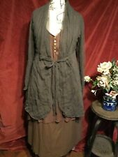 STUNNING BOHO DOUBLE LAYERED DRESS, LAGENLOOK , BOHEMIAN,  QUIRKY. SIZE L