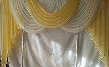 Querbehang, Deko-Gardine  Voile, hellgelb /creme, 1,80m  breit
