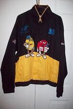 m & m nascar cotton jacket lined black blue red yellow xl new