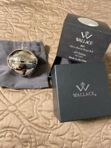 Wallace 2017 Sleigh Bell Silver Plate Ornament 47th Edition Preowned in Box