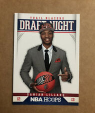 2012-13 Damian Lillard Panini NBA Hoops Draft Night RC Rookie