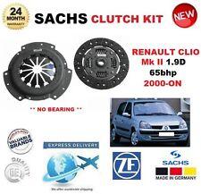 für Renault Clio 1.9 D 65bhp ab 2000 Sachs 2-tlg Kupplung Satz keine Lager