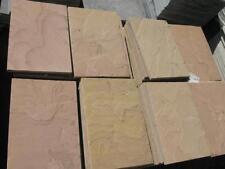 Terrassenplatten Sandstein 40x60x3cm Natursteinplatten Gelb gebürstet kalibriert