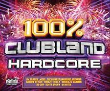 100% CLUBLAND HARDCORE 4CD Pre Order 12.05.17 Ultrabeat Cascada N-Force