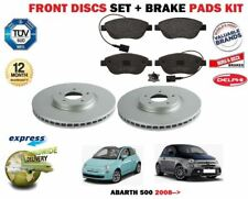FOR FIAT ABARTH 500 1.4 312 500C 2008-2018 NEW FRONT BRAKE DISCS SET + PADS KIT