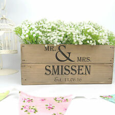 Personalised  Vintage Style Small Wooden Apple Crate Wedding Crate Wedding Gift